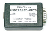USB2RS485 OPTO - galvanic decoupling RS485, RS422 - 1500Vrms Isolation